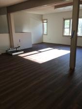 Efter gulvet blev lagt i vores 'yoga space'